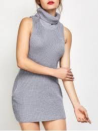 turtle neck sweaters sleeveless turtle neck sweater dress gray sweater dresses s zaful