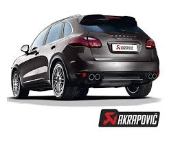 porsche suv turbo exhaust systems akrapovic porsche 958 cayenne turbo titanium