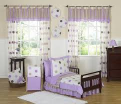 Girls Bedding Purple by Purple Brown White Polka Dots Toddler Comforter Bedding 5pc