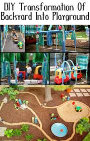 transformation of backyard into playground