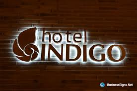 3d led backlit signs with mirror polished bronze letter shell for