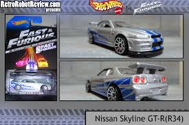 nissan skyline fast and furious wheels and fast and the furious movie car collection