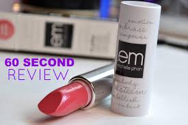 Em Makeup 60 second review em cosmetics color classic lipstick