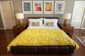 mid century modern bedrooms black painted elegant beside brown