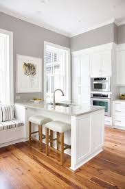 wonderful kitchen design trends 2017 studio grey wall white seat