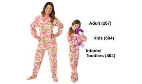 matching pink camouflage footed pajama sets big footed