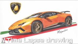 Lamborghini Huracan Design - lamborghini huracan performante time lapse drawing youtube