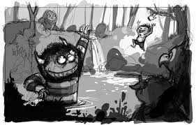 where the wild things are flimflammery art by bill robinson
