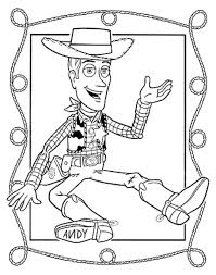 sheriff woody plays lasso toy story coloring pages boys coloring
