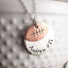 Personalized Stamped Necklace Buy Hand Stamped Cheerleader Necklace With Date Or Name Tag