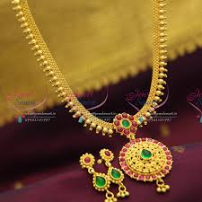 nl2883 temple kempu south indian traditional gold design imitation