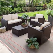 Outdoor Wicker Dining Set Coral Coast Berea Wicker 4 Piece Conversation Set With Storage