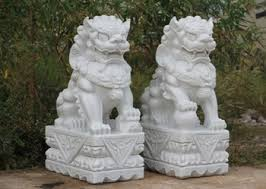 white foo dogs resin statues foo dog civilian door gods fu temple lions statues
