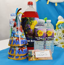 Decorate Water Bottle Free Smurfs The Lost Village Printable Party Decorations