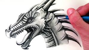 how to draw a dragon head youtube