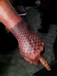 nice simple dot work hand tattoo design for cool men