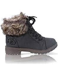womens fur boots uk amazon co uk boots s shoes shoes bags