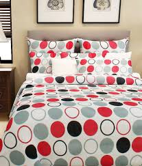 home candy 100 cotton multi polka dots double bed sheet with 2