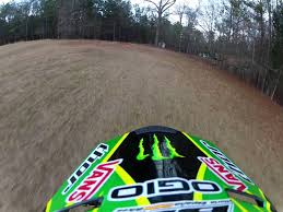 monster energy motocross helmet monster energy dirt bike run gopro backyard motorcross klx110l