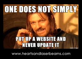 Meme Update - funny memes to celebrate our new site maintenance services steph