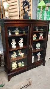 antique display cabinets with glass doors antique mahogany display cabinet double glass doors very nice