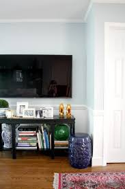 console table under tv decorating under around our tv emily a clark
