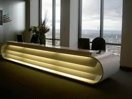 Unique Reception Desks Contemporary Interior Elements Decoration With Entrancing Wall