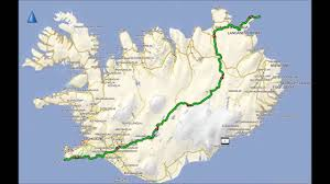 Iceland On Map Horn í Horn 2016 Solo Traversing Iceland On A Motorbike In 10