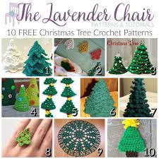 crochet christmas free christmas tree crochet patterns the lavender chair