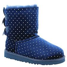ugg bailey bow navy blue sale amazon com ugg kid s bailey bow starlight boot boots