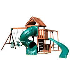 Backyard Discovery Winchester Playhouse Swing N Slide Grandview Twist Complete Swing Set U0026 Reviews Wayfair