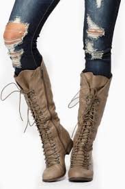 womens boots the knee amazon com breckelles s 35 knee high lace up combat