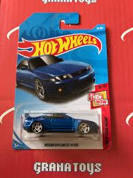 matchbox nissan skyline nissan skyline gt r r33 46 blue 2018 wheels case b grana toys