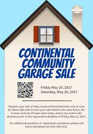 2017 continental community garage sales continental enews