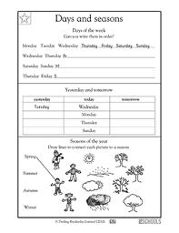 1st grade math worksheets days and seasons math worksheets