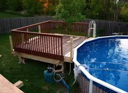 deck design ideas for above ground pools 100 images multi