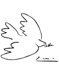 Coloriage  Colombe de la paix par Picasso  Coloriages à imprimer