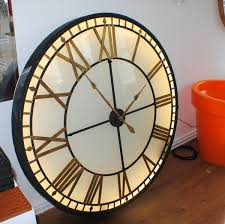 big large illuminated light big skeleton vintage clock uk