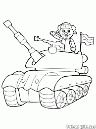 coloring page toy tank