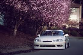 lexus japan lexus sc 400 tuning car japan hellaflash lexus white street tree