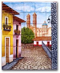mexican tile lomeli taxco 30 pcs mural mission murals