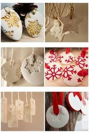a simple diy to make white clay ornaments with just 3