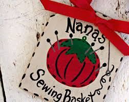 wood sewing basket etsy