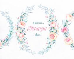 wedding flowers quote moonlight 3 watercolor wreaths frames popies roses floral