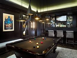 pool table bar stools game room with bar designs family room contemporary with black pool