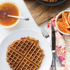 paleo sweet potato waffles with orange maple syrup perry u0027s plate
