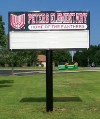 pole sign the sign maker peters elementary completed pole sign makerover 001