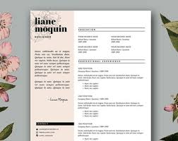 Fashion Industry Resume Fashion Design Resume Template Resume Template 3 Page Pack Cv