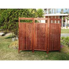 Outdoor Room Dividers Outdoor Room Dividers Wayfair 64 X 81 3 Panel Deluxe Privacy