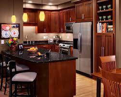 kitchen ideas with cherry cabinets cherry kitchen cabinets black granite gen4congress com